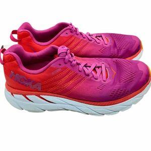 Hoka One One Clifton 6 Comfort Running Shoe Pink